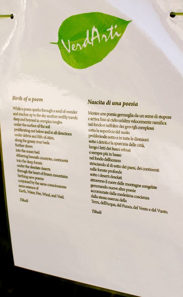 My Poem at Verdarti festival, Italy