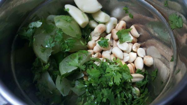 Ingredients in a grinder