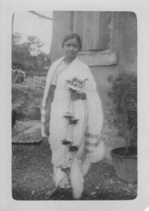 My Aaji Vardha Moghe on her wedding day, June 1929